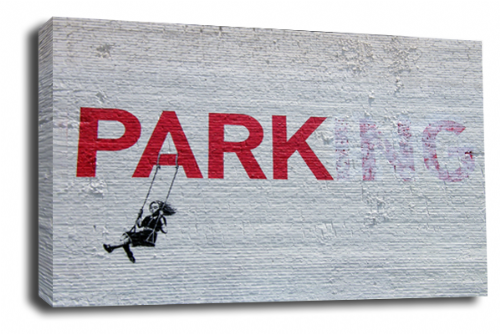 Banksy Art No Parking Swing Wall Canvas Peace Love Picture Print 20x30